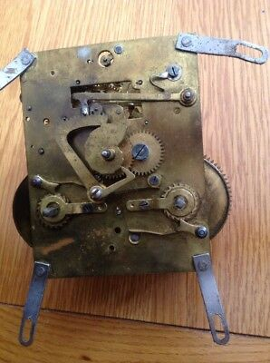 Vintage ENGLISH Chime/ Strike  Mantel Clock Movement Working