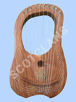 Traditional Lyre Harp Ten String Natural Lyra Harps 10 Metal Strings Instruments