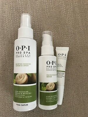 OPI ProSpa Protective Hand Serum 60ml, Hand& Feet Spray 112ml, Cuticle Oil 7.5ml
