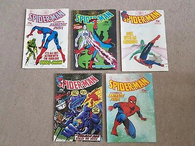 5 Spiderman Marvel UK Comics 545-549 Aug 1983-Sep 1983