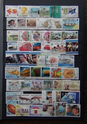Virgin Islands useful commemorative issues Used Royalty Aircraft Fungi etc