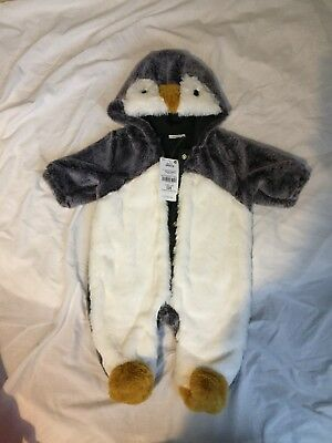 **bnwt Supersoft Penguin Snowsuit From Next**