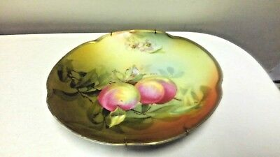 "Antique Louise Bavaria Hand Painted Porcelain Fruity Plate 8 ½"" – Signed A. Koch"