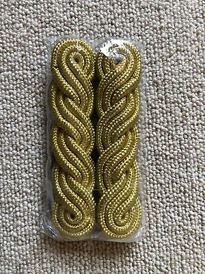 Genuine Pair Of Military Officers Gold Shoulder Cords