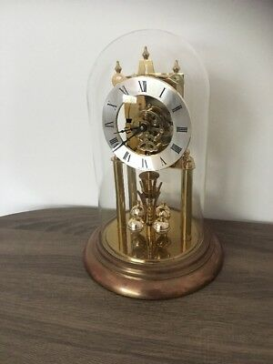 Vintage S Haller Simondswald Germany Anniversary Clock & Dome For Repair