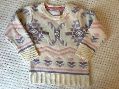Primark Young Dimensions Baby Girls Long Geometric Long Sleeve Jumper 9-12 Month