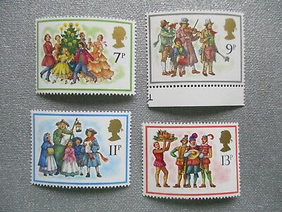 CHRISTMAS 1978 - Complete set GB unmounted Mint Postage Stamps MNH November 1978