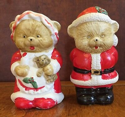 Christmas Bear Salt & Pepper Shakers