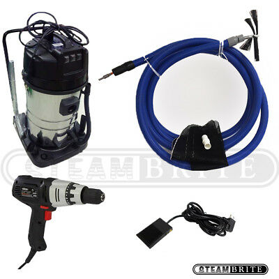 Motobrush Rotary Air Duct Cleaning Package with Hepa Vacuum Foot Controller