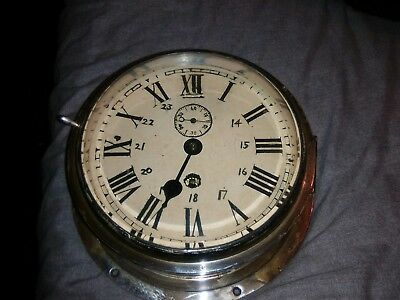Smiths astral clock maritime ships bulkhead clock In brass case