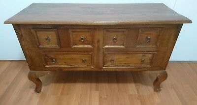 Vintage  6 Drawers Cabinet Chest of Drawers Cupboard TV unit solid
