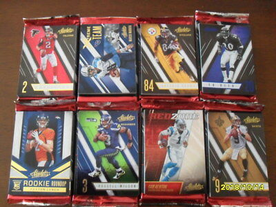 61 NFL Football Cards Absolute 2016, mit Inserts
