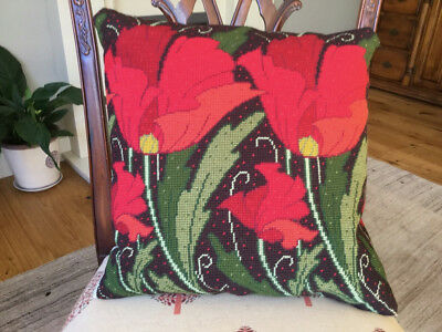 Completed Ehrman Needlepoint Cushion