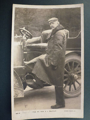 Rp Pc Rt.hon.a.j.balfour With Motor Car (101)
