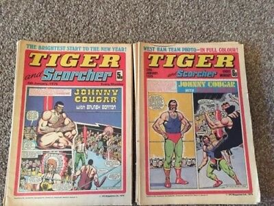 14 Vintage Tiger And Scorcher Comics 1975 & 1976