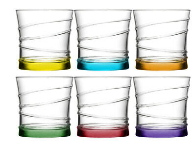 6x Drinking Glasses Set of Lav 320cc Water Glasses Glass Lens Dessertglas