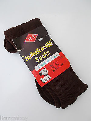 Vintage Mens Nylon Socks 1970s era Brown Unused New in Packet BriNylon