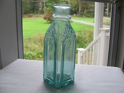 Smaller Sized Cathedral Pickle Bottle Thick & Bubbly Glass ... It's A Good One!!