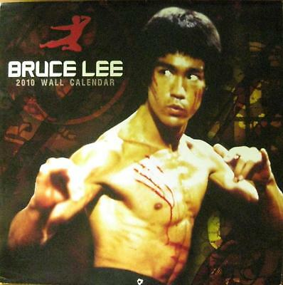 Rare 2010 Bruce Lee Wall Calendar Jeet Kune Do Wing Chun Kung Fu Martial Arts