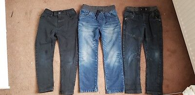 Boys jeans 6-7 years 3 pairs bundle trousers