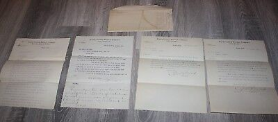 RARE RARE 1906 Alaska Central Railway Company, Lot of 4  Letters & ENVELOPE
