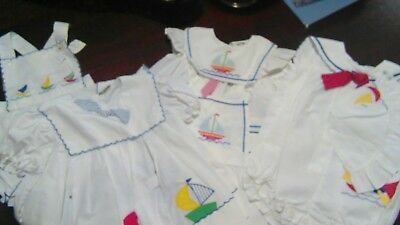 Lot Of Vintage Girls Sailor Outfits Size 18 Months