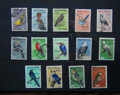 Botswana 1967 Birds set Fine Used SG220 - SG233