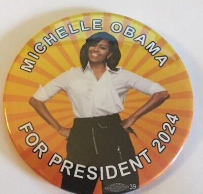 "3"" Michelle Obama For President 2024 Political Pin"