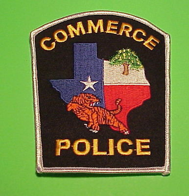 Commerce  Texas  Tx    Police Patch  Freeshipping!!!