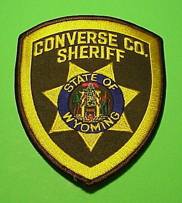 Converse County  Wyoming  Wy  Sheriff / Police Patch   Free Shipping!!!