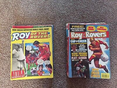 Vintage Roy Of The Rovers Job Lot X 42 - 1986-1990