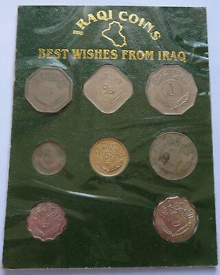 Iraqi 8 Coins Set, Best Wishes From, Souvenir set   (141051B)
