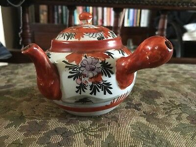 Antique 19th Century Japanese Kutani Teapot