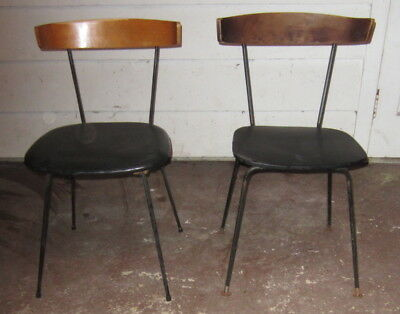 Mid Century Modern CLIFFORD PASCOE DINING SIDE Paul Mccobb Style CHAIRS