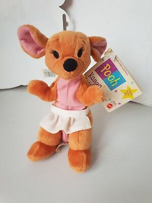 DISNEY  SOFT PLUSH TOY BEANIE Kanga Winnie the Pooh with tags