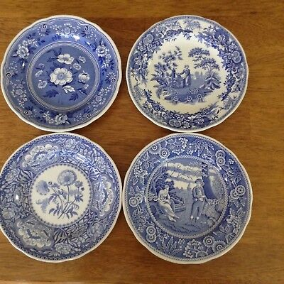 """Four Spode Blue Room Collection plates, 7 1/2"""""""