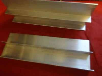 "2 Pieces Of 4"" Aluminum 'f' Channel 12"" In Length"
