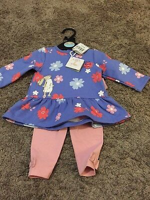 Guess How Much I Love You Baby Girl Outfir 0-3 Months Bnwt