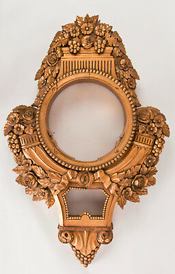 Large Swedish gilded wall clock case only @ 1890 Impressive