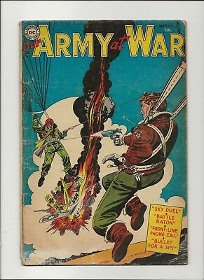Our Army at War 26 G/VG 3.0 Golden Age Pre-Sgt Rock DC War 1954
