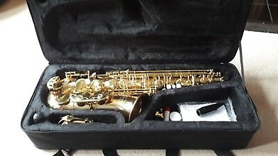 Sonata Alto Saxophone with case & accessories in hard case, excellent condition