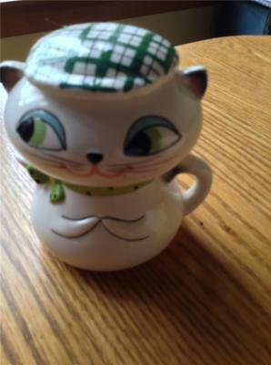Vintage Holt Howard Cozy Kitten Creamer Sugar Stacking Stack-able 3 Pieces