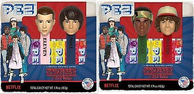 PEZ Stranger Things Gift Sets, Eleven & Mike, Lucas & Dustin. NEW