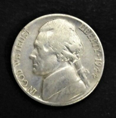 Vintage United States 5 Cents - 1944 Silver War Nickel coin