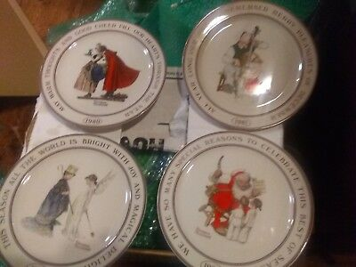 decorative christmas plates from norman rockwell - Decorative Christmas Plates