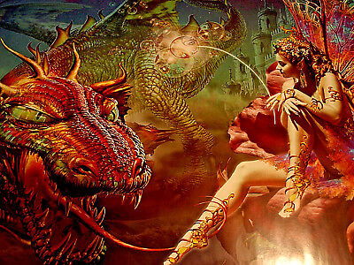 DRAGONS DREAM poster Fantasy,Psychedelic,Trip,Animation,Fairy,Phone