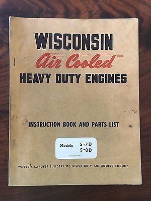 1967 Wisconsin Air Cooled Heavy Duty Engines Instruction Book-Models S-7D & S-8D