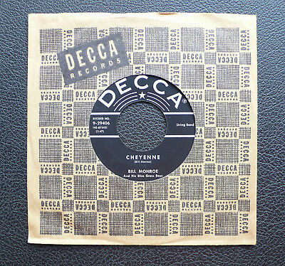 "7"" Bill Monroe & Blue Grass Boys - Cheyenne - USA DECCA"