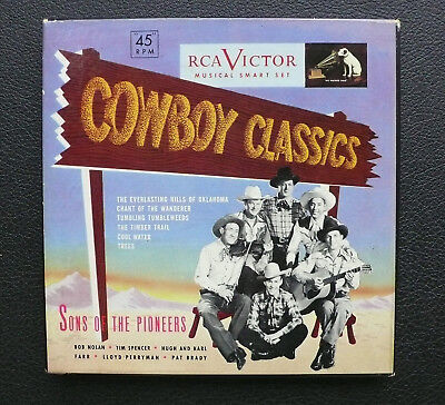 "3x 7"" Box Set - Sons Of The Pioneers - Cowboy Classics - USA RCA"