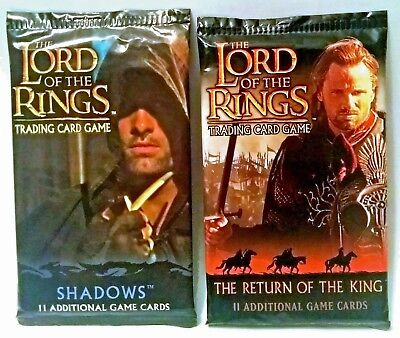 LORD OF THE RINGS 2 TCG booster packs NEW SEALED (Shadows/ROTK)